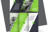 Tri-Fold Brochure Design Template Green with regard to Adobe Tri Fold Brochure Template
