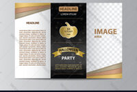 Tri-Fold Brochure Template For Halloween Party with Adobe Illustrator Brochure Templates Free Download