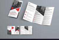 Tri-Fold Brochure Template In Modern Style With in Three Panel Brochure Template