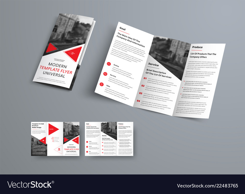 Tri Fold Brochure Template In Modern Style With In Three Panel Brochure Template