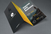 Tri Fold Brochure Template Psd regarding 3 Fold Brochure Template Psd