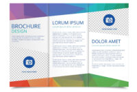 Tri Fold Brochure Vector Template – Download Free Vectors for 3 Fold Brochure Template Free