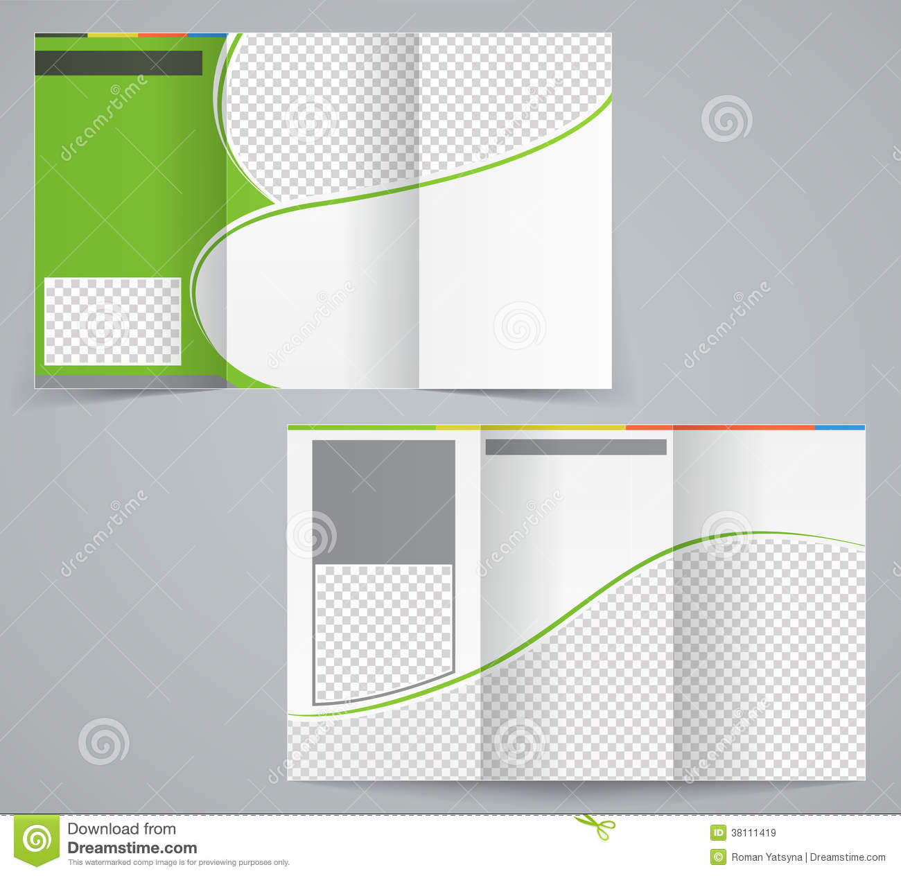 Tri Fold Business Brochure Template, Vector Green Stock With Regard To Brochure Template Illustrator Free Download