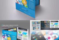 Tri-Fold Social Media Brochure Template Indesign Indd pertaining to Social Media Brochure Template