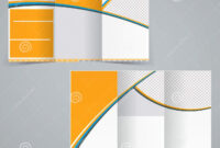Trifold Brochure Design. Abstract. Round. Geometrical. Curve Within Brochure Template Illustrator Free Download