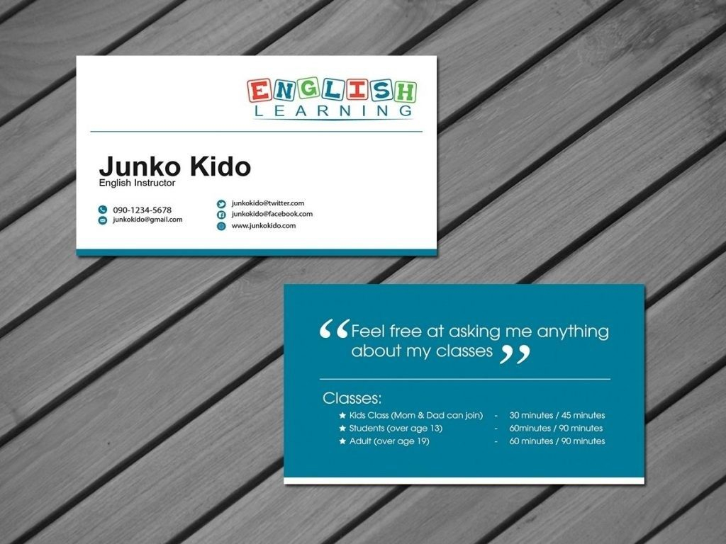 Tutor Business Cards For Teachers Templates Free| Pozycjoner Within Business Cards For Teachers Templates Free
