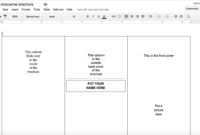 Tutorial: Making A Brochure Using Google Docs From A with regard to Brochure Template For Google Docs