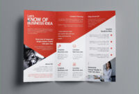 Two Sided Brochure Template Aphrodite Business Tri Fold within Adobe Indesign Tri Fold Brochure Template