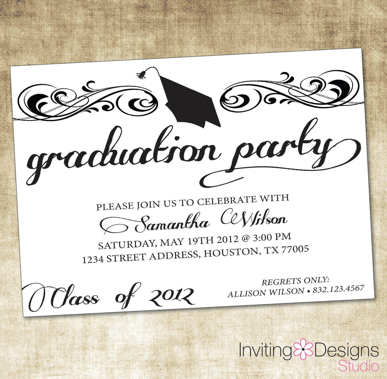 Unique Ideas For College Graduation Party Invitations Intended For Graduation Party Invitation Templates Free Word