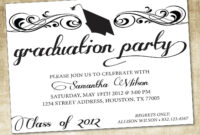 Unique Ideas For College Graduation Party Invitations within Free Graduation Invitation Templates For Word