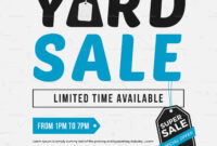 Unique Yard Sale Flyer Template in Yard Sale Flyer Template Word