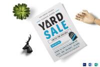 Unique Yard Sale Flyer Template throughout Yard Sale Flyer Template Word