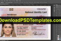 United Kingdom National Identity Card Template [Uk Id Card] within Florida Id Card Template