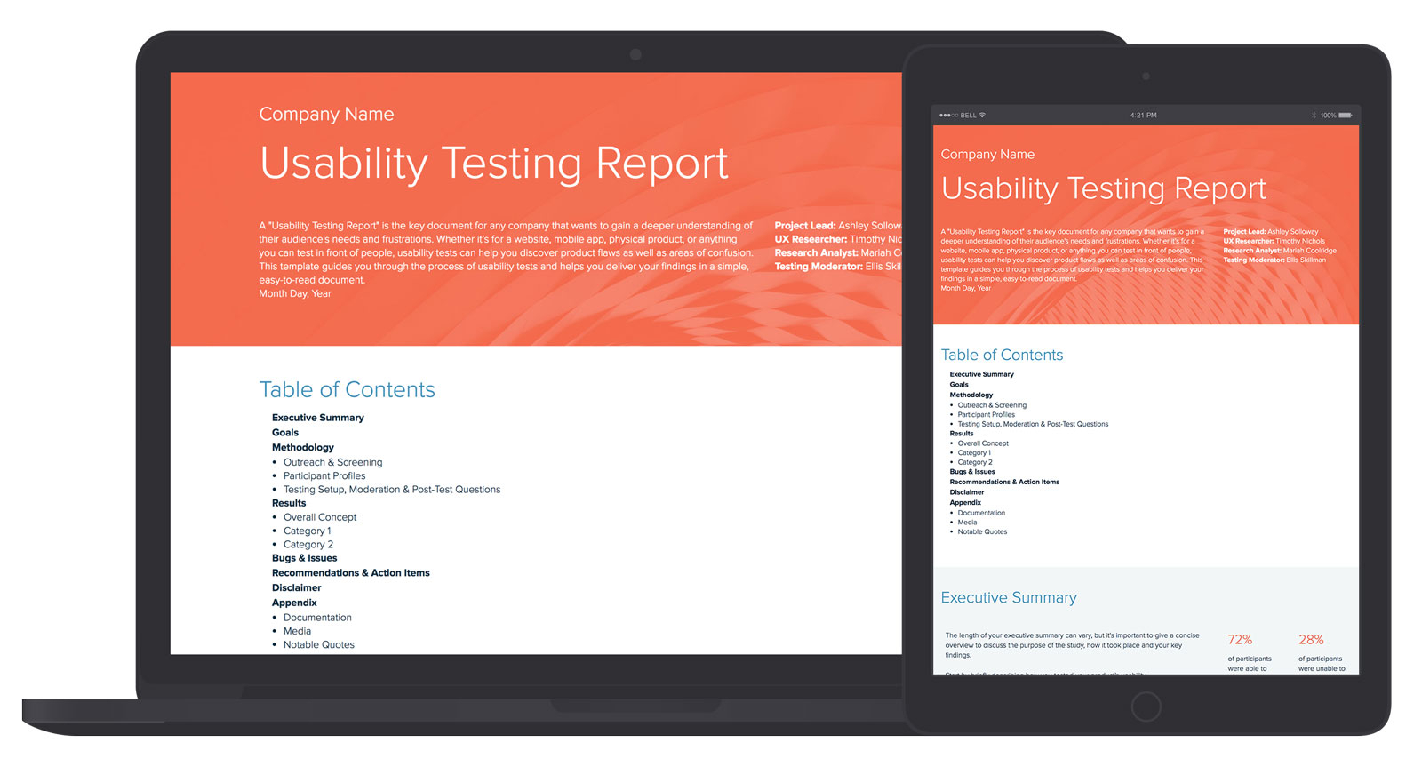 Usability Testing Report Template And Examples | Xtensio With Regard To Ux Report Template