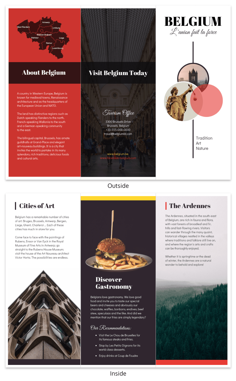 Vacation Travel Brochure Template Template - Venngage Inside Country Brochure Template