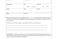 Vaccination Certificate Format – Fill Online, Printable throughout Rabies Vaccine Certificate Template