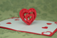 Valentine's Day Pop Up Card: 3D Heart Tutorial – Creative for Twisting Hearts Pop Up Card Template