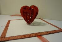 Valentine's Day Pop Up Card: 3D Heart Tutorial – Creative regarding 3D Heart Pop Up Card Template Pdf