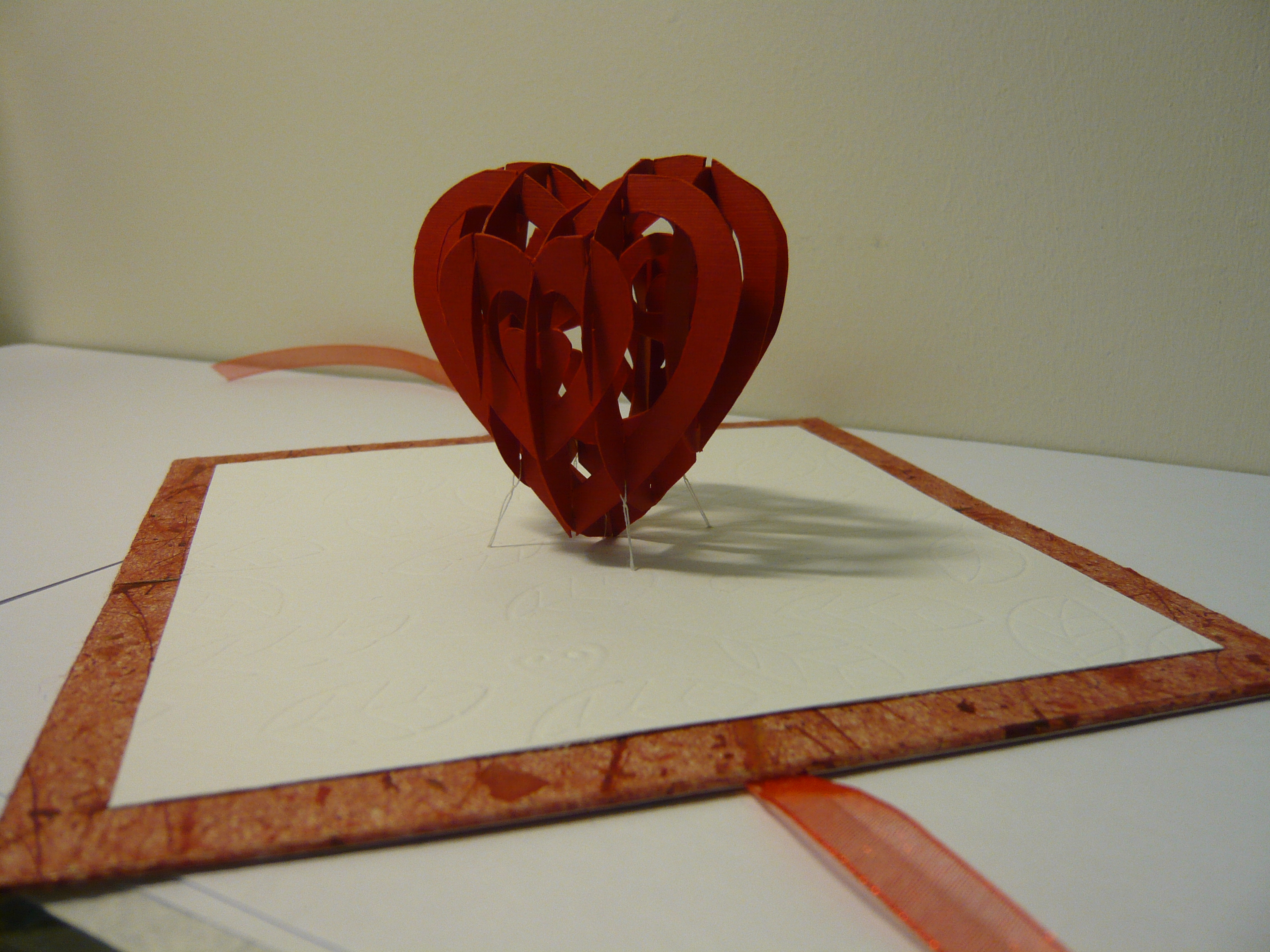 Valentine's Day Pop Up Card: 3D Heart Tutorial - Creative Regarding 3D Heart Pop Up Card Template Pdf