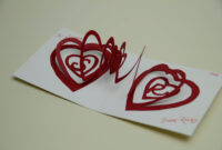 Valentine's Day Pop Up Card: Spiral Heart Tutorial with regard to 3D Heart Pop Up Card Template Pdf