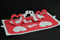 Valentine's Day Pop Up Card: Twisting Heart – Creative Pop in Twisting Hearts Pop Up Card Template