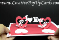 Valentines Day Pop Up Card: Twisting Hearts intended for Twisting Hearts Pop Up Card Template