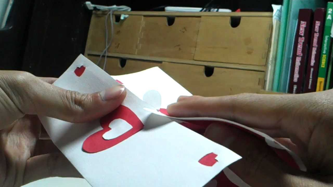 Valentine's Day Pop Up Card: Twisting Hearts Pertaining To Twisting Hearts Pop Up Card Template