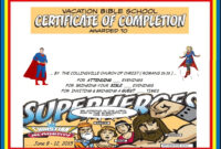 Vbs Certificate Superhero Red Capes | Vbs Lesson Handouts throughout Free Vbs Certificate Templates