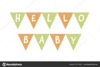 Vector Baby Shower Banner Template. Scandinavian Design for Baby Shower Banner Template