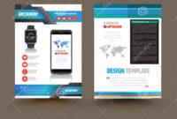 Vector Brochure Template Design For Technology Product intended for Product Brochure Template Free