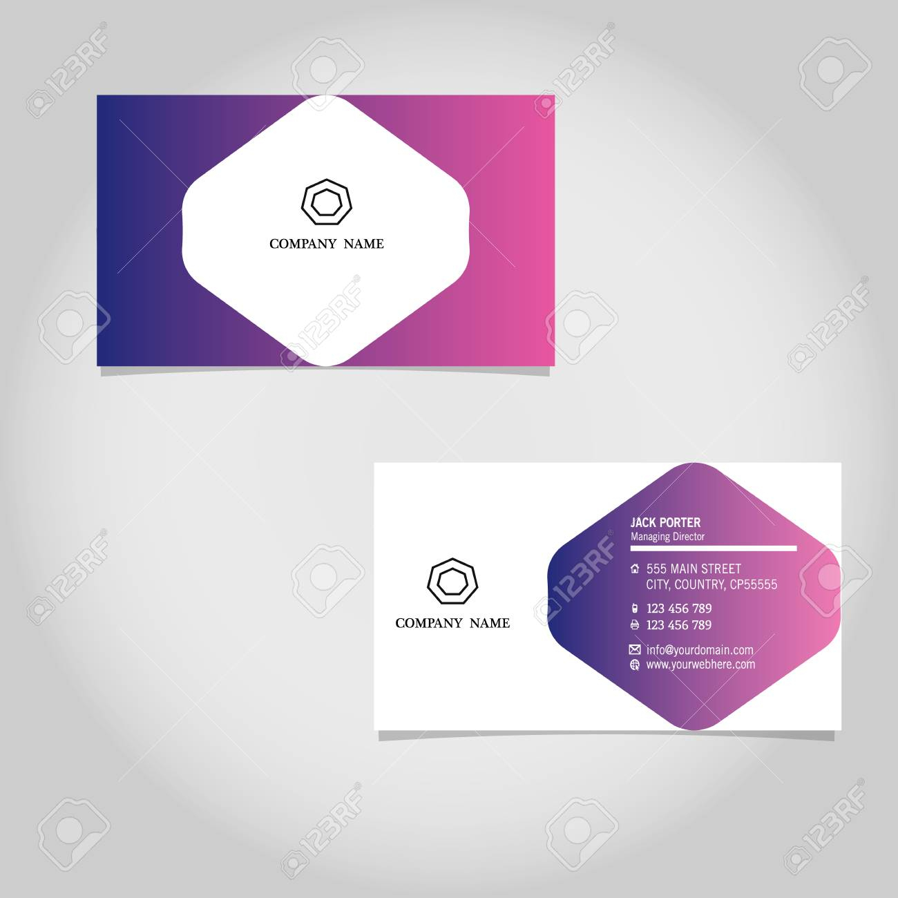 Vector Business Card Template Design Adobe Illustrator Throughout Adobe Illustrator Business Card Template