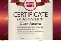 Vector Certificate Of Achievement Template. Award Winner in Certificate Of Attainment Template