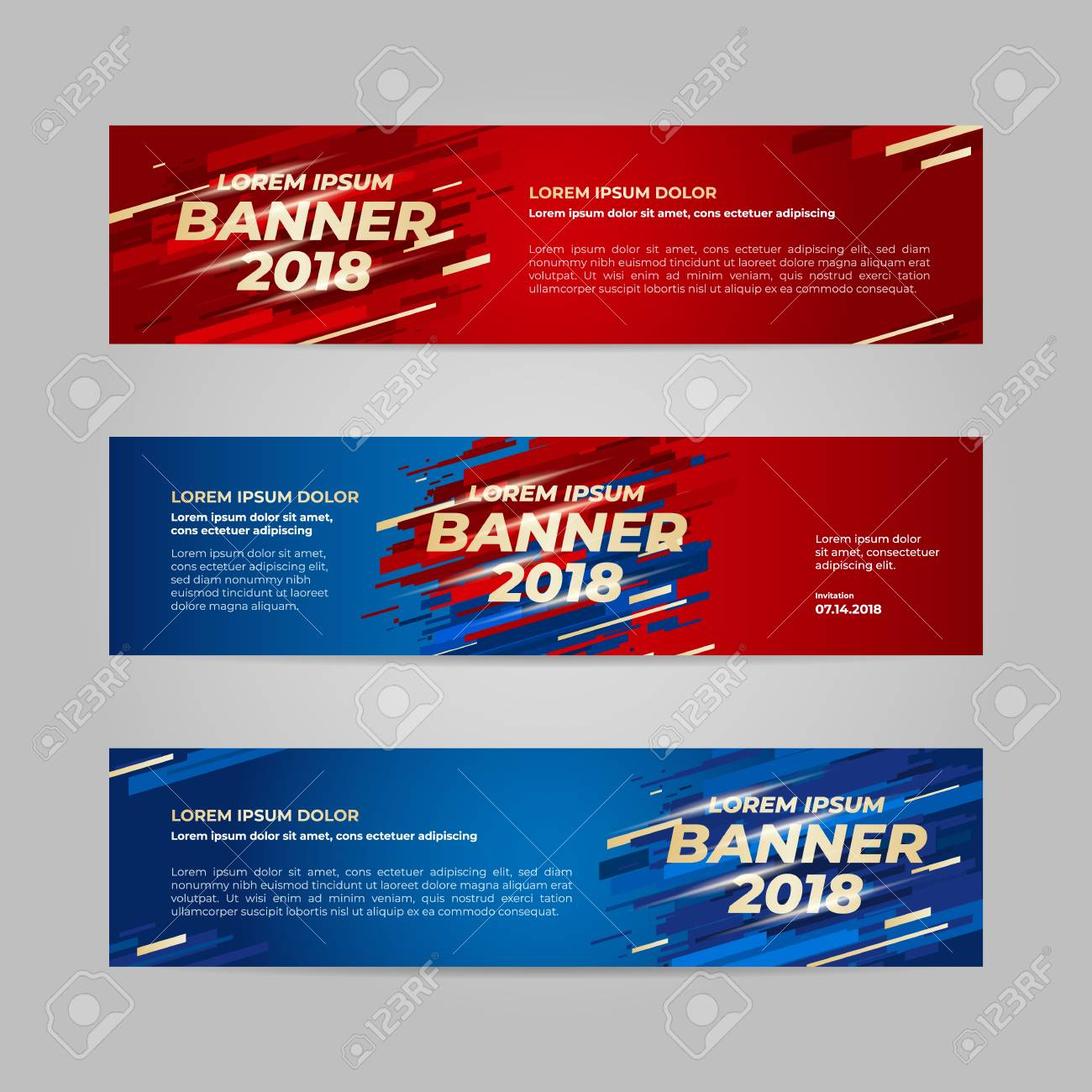 Vector Design Banner Web Template For Sport Event, 2018 Trend Regarding Event Banner Template