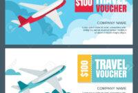 Vector Gift Travel Voucher Template. 3D Isometric Illustration.. inside Free Travel Gift Certificate Template