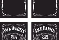Vector Jack Daniels Logo Template B | Handandbeak with Blank Jack Daniels Label Template