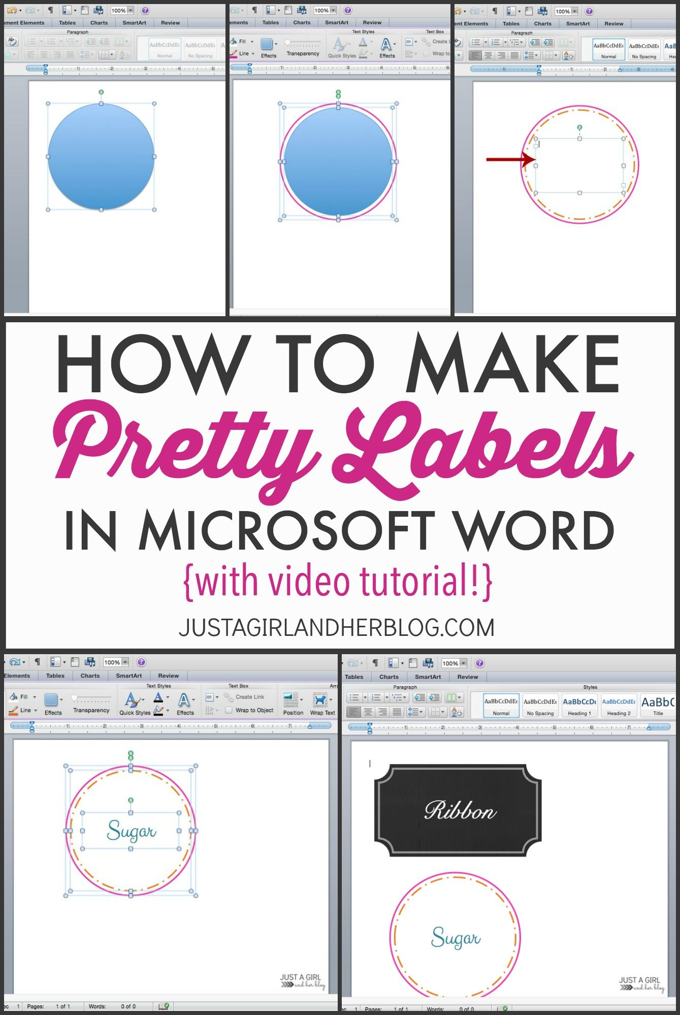 Video: How To Make Pretty Labels In Microsoft Word   Crafty Pertaining To Microsoft Word Sticker Label Template