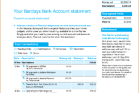 Viewing Gallery For – Bank Account Statement | I'd In 2019 regarding Blank Bank Statement Template Download