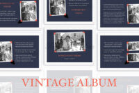 Vintage Album Powerpoint Template with regard to Powerpoint Photo Album Template
