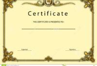 Vintage Certificate Award / Diploma Template Stock inside Beautiful Certificate Templates