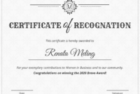 Vintage Certificate Of Recognition Template Template – Venngage throughout Template For Certificate Of Award