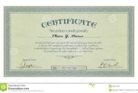 Vintage Frame Or Certificate Template Stock Vector intended for Free Stock Certificate Template Download