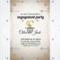 Vintage Style Wedding Engagement Party Invitation Card Template Design  Vector For Engagement Invitation Card Template