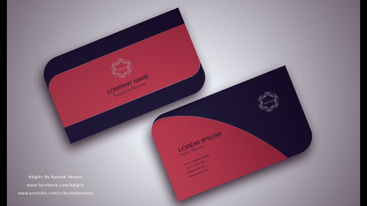 Visiting Card Design Illustrator Free Download Business Pertaining To Visiting Card Illustrator Templates Download