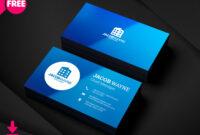 Visiting Card Psd Template Business Design Templates Free in Visiting Card Templates For Photoshop