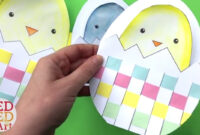 Weaving Chick Cards With Template – Easy Easter Card Diy Ideas for Easter Chick Card Template