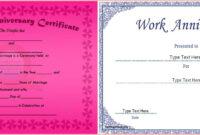 Wedding Anniversary Certificate Template Free With 25Th Gift regarding Anniversary Certificate Template Free