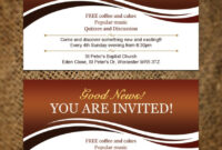 Wedding Invitation Background Best Invitation Card Templates throughout Church Invite Cards Template
