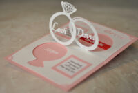 Wedding Invitation Linked Rings Pop Up Card Template with Pop Up Wedding Card Template Free