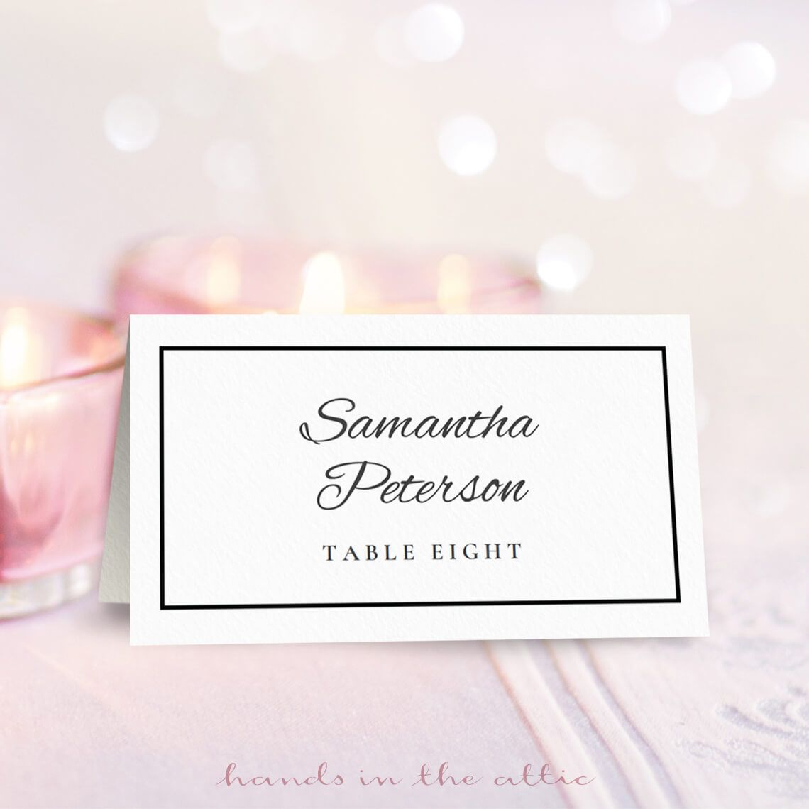 Wedding Place Card Template   Free On Handsintheattic Inside Table Place Card Template Free Download
