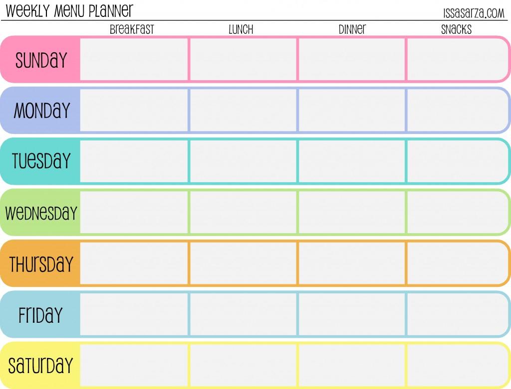 Weekly Dinner Menu Planner Template Pertaining To Menu Planning Template Word